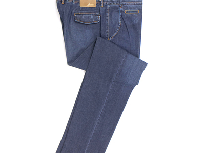 Photo of Designer Jeans Upscale Denim Brioni // Capri Cotton Blend Denim Jeans // Blue (61) by Touch Of Modern