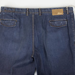 Brioni // Capri Cotton Blend Denim Jeans // Blue (44)