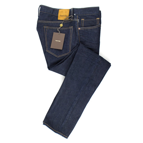 Tom Ford // Five Pocket Slim Fit Jeans // Blue (44)