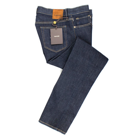 Tom Ford // Five Pocket Straight Leg Jeans // Blue (44)