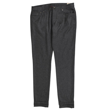 Brunello Cucinelli // Wool Five Pocket Jeans // Slate Gray (44)