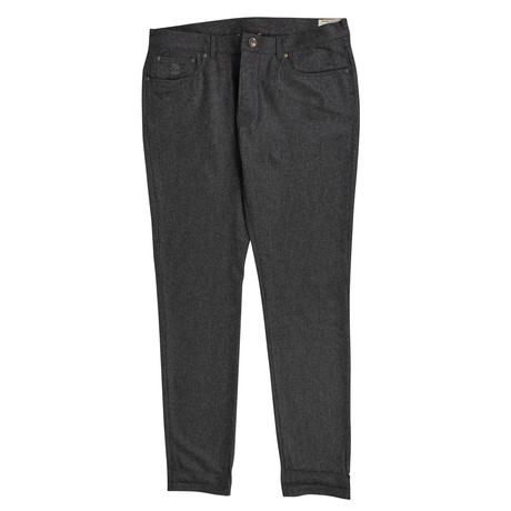 Brunello Cucinelli // Wool Jeans // Gray (44)