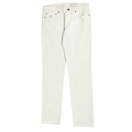 Brunello Cucinelli // Cotton Five Pocket Denim Jeans // Off-White (44)