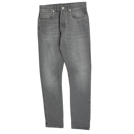 Brunello Cucinelli // Selvage Denim Jeans Faded Pants // Gray (44)