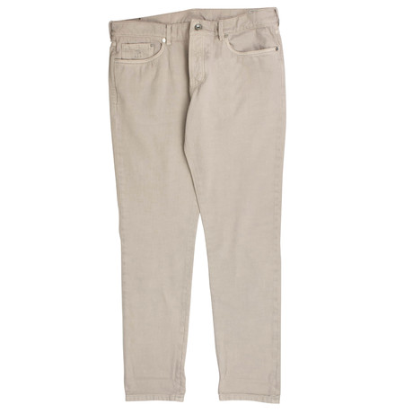 Brunello Cucinelli // Cotton Denim Five Pocket Jeans // Beige (44)