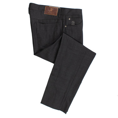 Brunello Cucinelli // Wool Five Pocket Jeans // Stone Gray (44)