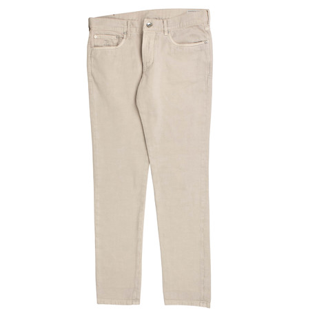 Brunello Cucinelli // Cotton Denim Five Pocket Jeans // Tan (44)