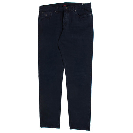 Brunello Cucinelli // Denim Five Pocket Jeans // Marine Blue (44)