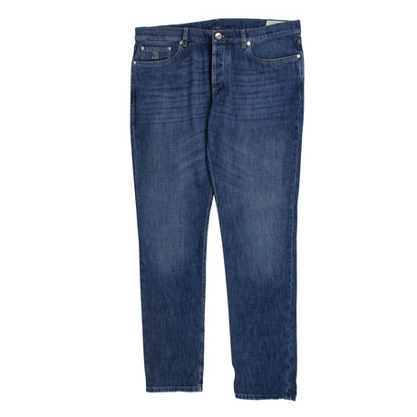Brunello Cucinelli // Faded Denim Jeans // Midnight Blue (44)
