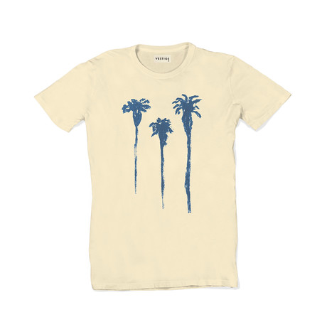 Tres Palm Tee // Light Yellow (M)