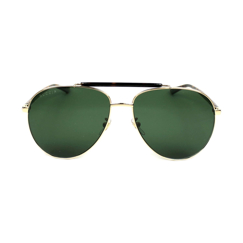 8fbfa48adf Men s GG0014S-006-60 Polarized Sunglasses    Gold + Green - Gucci ...