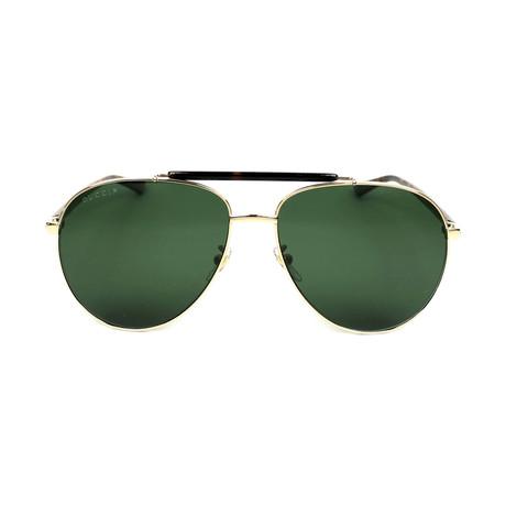 76d38898968 Men s GG0014S-006-60 Polarized Sunglasses    Gold + Green