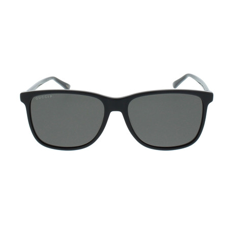 eafae51c42c Gucci    GG0017S-001-57 Polarized Sunglasses    Black + Gray