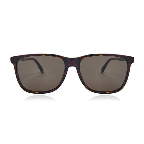 9e7d6f906b0 Gucci    Men s GG0017S-002-57 Sunglasses    Havana + Green
