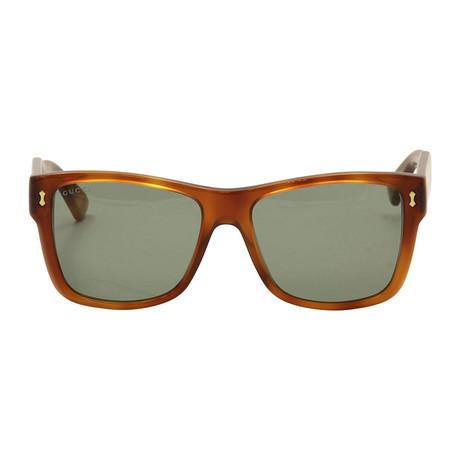 d2ba716c452 Gucci    GG0052S-004-55 Sunglasses    Brown + Green