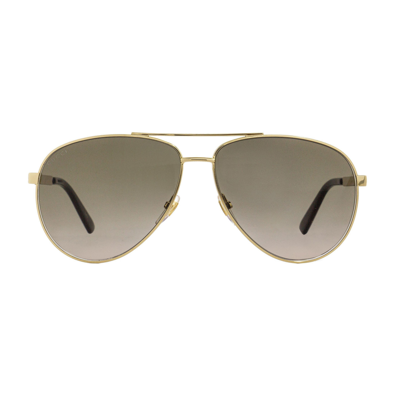 af3e6fee183 E839e4bab64fd985f110d932b77b6111 medium · Gucci    GG0137S-001 61 Sunglasses     Gold + Brown Gradient