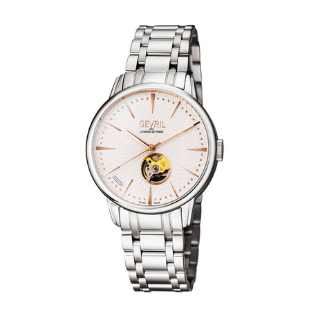 Gevril Mulberry Silver Swiss Automatic // 9601B
