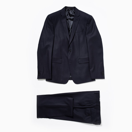 Two Button Wool Suit // Navy (Euro: 46)