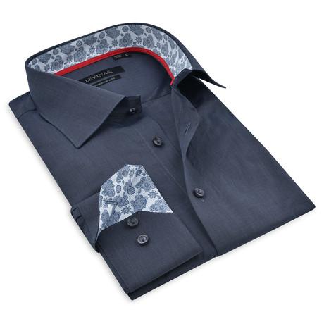 Button-Up Shirt IV // Navy (S)