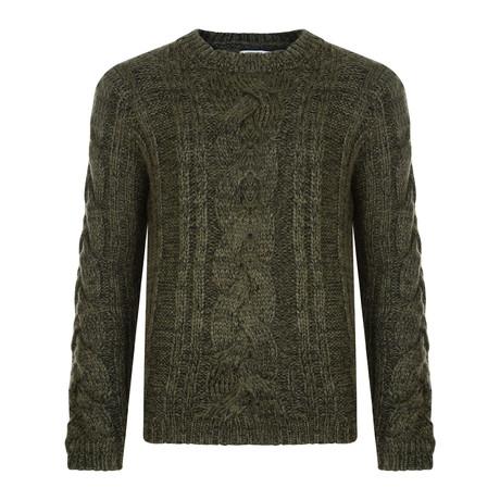 Kilmore Chunky Cable Sweater // Khaki (XS)