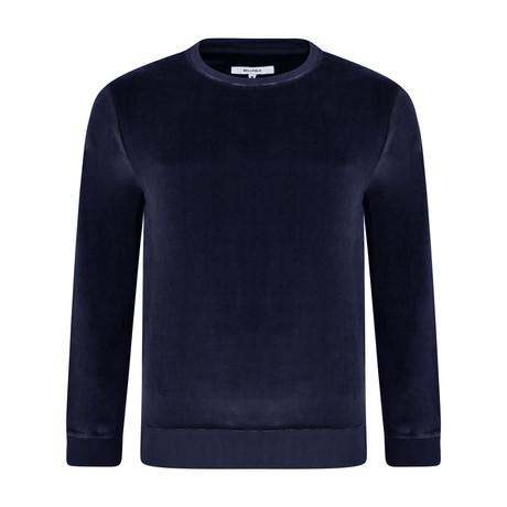 Loyola Velour Sweatshirt // Navy (XS)