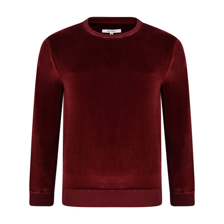Loyola Velour Sweatshirt // Port (XS)