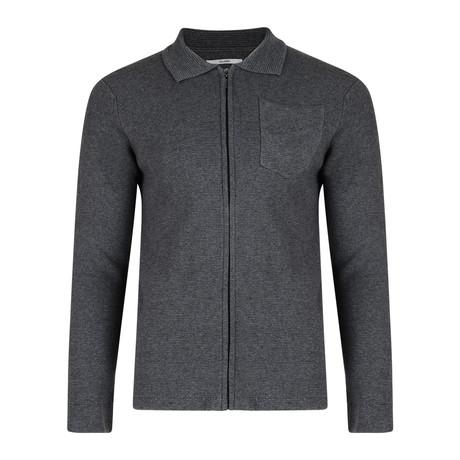 Norkka Structured Full Zip Cardigan // Light Gray (S)
