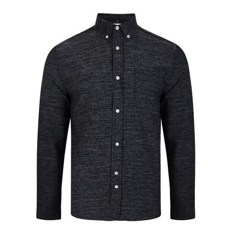 Nico Textured Shirt // Navy (S)