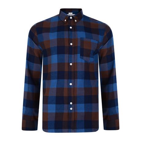 Nomura Check Shirt // Marine (S)