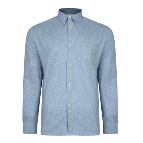 Recoba Textured Button-Up Long-sleeve // Pale Blue (S)