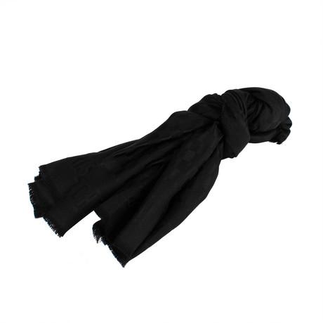 D-Check Silk-Wool Scarf // Black