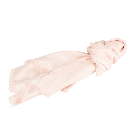 Cannage Silk Wool Scarf // Light Pink