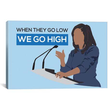 "Michelle Obama // We Go High (26""W x 18""H x 0.75""D)"