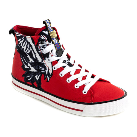 High Top Sneaker // Red (Euro: 40)