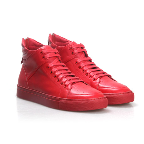 Monochrome Sneakers // Red (US: 9.5)