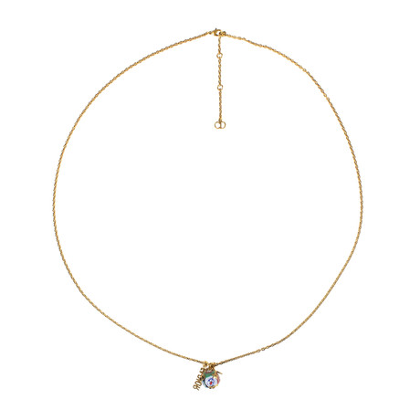 Gold Pearl 'J'Adior' Long Necklace // Multi-Color