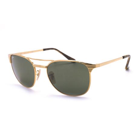 Ray-Ban // Men's Signet Sunglasses // Gold + Green Classic