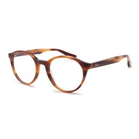 Unisex 0RX5361 Round Optical Frame // Horn Brown + Pink