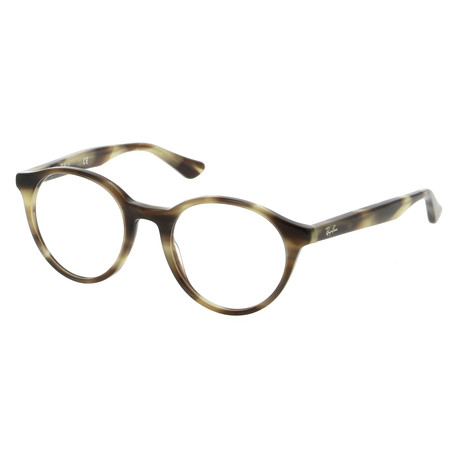 Unisex Round Optical Frame // Horn Beige + Brown