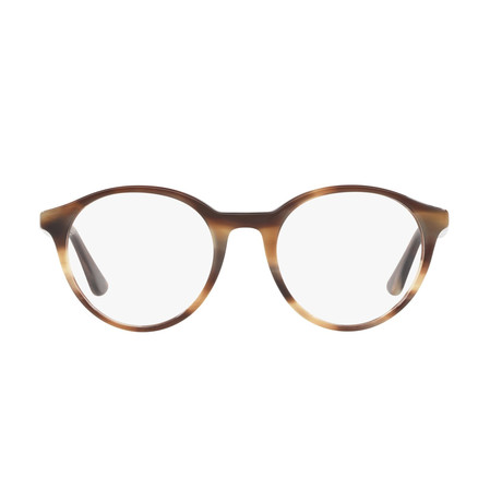 Unisex Round Optical Frames II // Horn Beige + Brown
