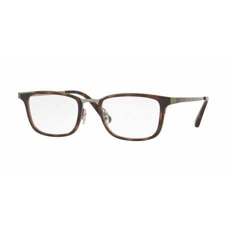 Men's Rectangular Optical Frame // Havana + Black
