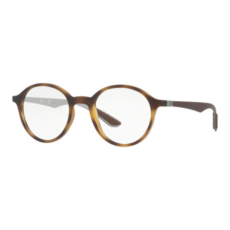 Men's 0RX8904 Round Optical Frames // Brown + Gray