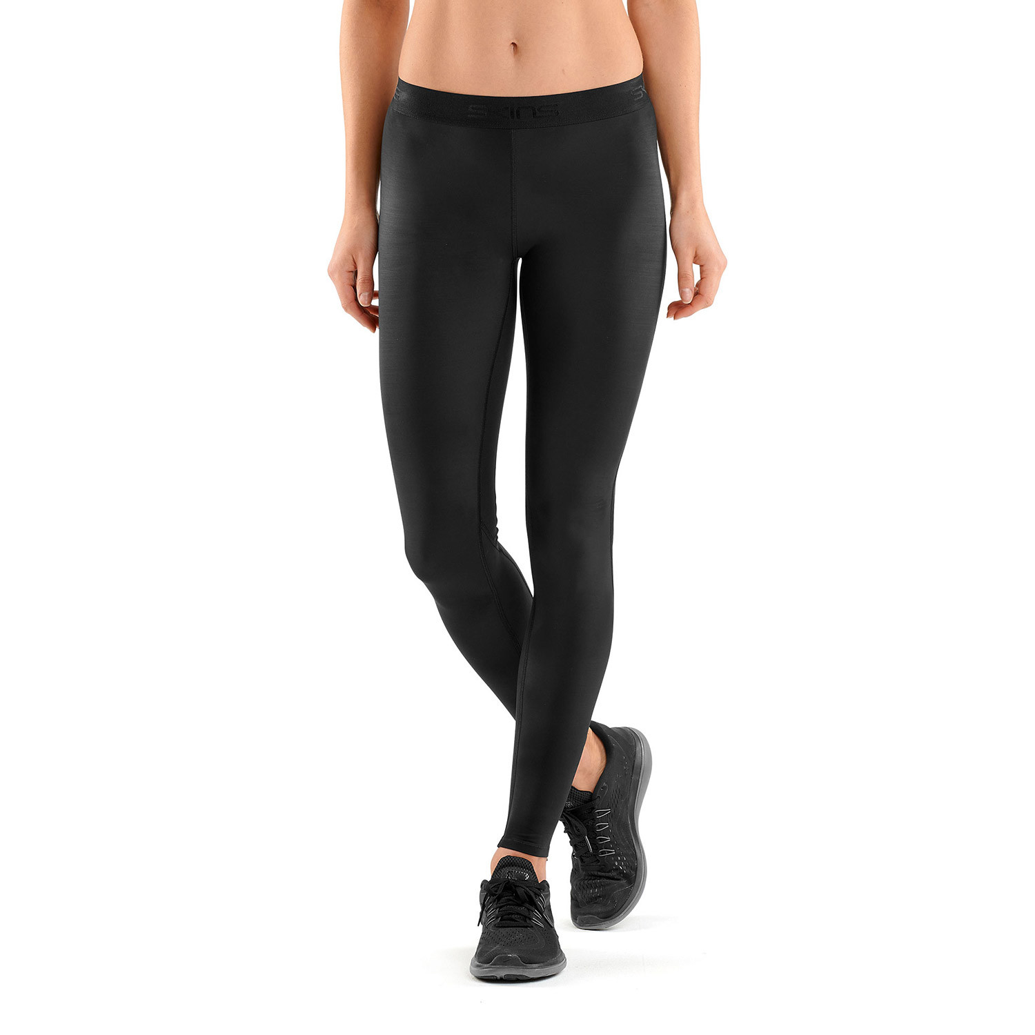 0d11e47ee0 SKINS DNAmic Womens Long Tights Black/Black (X-Small) - CLEARANCE ...