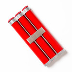 Keep It Fresh Cigar Holder // Triple (Red + Silver)