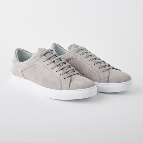 Bloke-Low Lace-Up Sneaker // Grey Suede (US: 7)