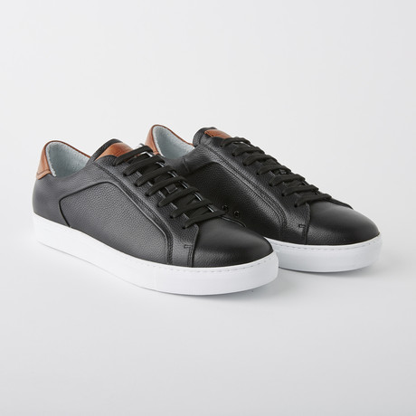 Bloke-Low Lace-Up Sneaker // Black Leather (US: 7)
