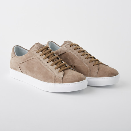 Bloke-Low Lace-Up Sneaker // Mushroom Suede (US: 7)