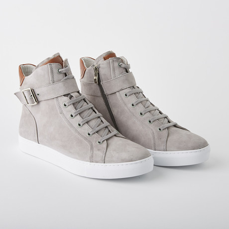 Bloke Hi Lace-Up Sneaker // Gray Suede (US: 7)