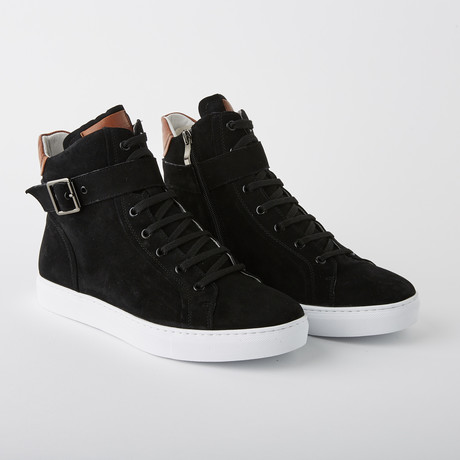 Bloke Hi Lace-Up Sneaker // Black Suede (US: 7)