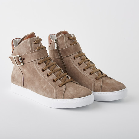 Bloke Hi Lace-Up Sneaker // Mushroom Suede (US: 7)